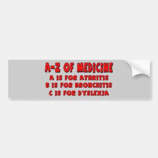 A-Z of Dyslexia Bumper Sticker