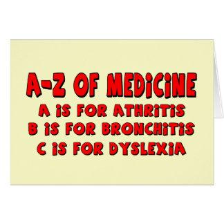 A-Z of Dyslexia Card