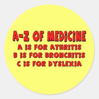 A-Z of Dyslexia Classic Round Sticker