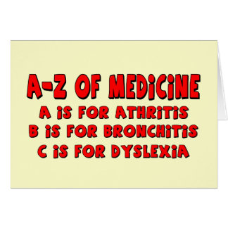 A-Z of Dyslexia Greeting Card
