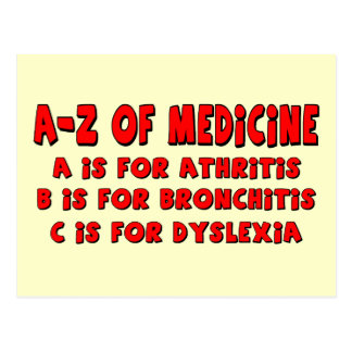 A-Z of Dyslexia Postcard