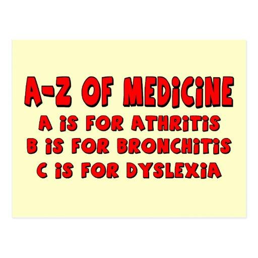 A-Z of Dyslexia Post Card