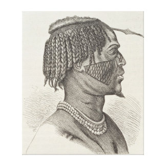 A Zandeh from The History of Mankind Canvas Print