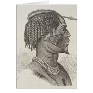 A Zandeh from The History of Mankind Greeting Cards