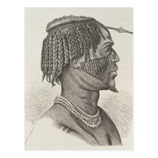 A Zandeh from The History of Mankind Postcard