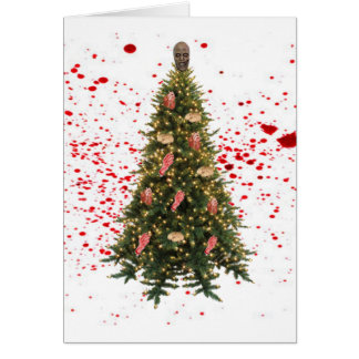 A Zombie Little Christmas Greeting Card