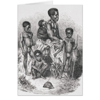 A Zulu family from The History of Mankind Card