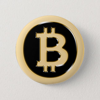 AA568-Bitcoin-Made-of-Gold-symbol 6 Cm Round Badge