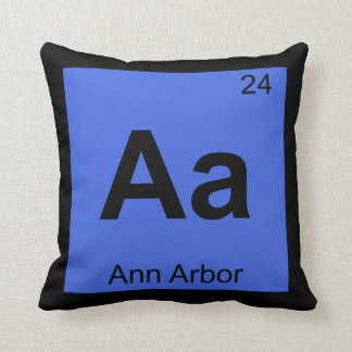 Aa - Ann Arbor Michigan Chemistry Periodic Table Cushion