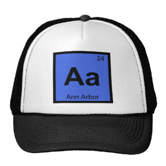 Aa - Ann Arbor Michigan Chemistry Periodic Table Mesh Hat