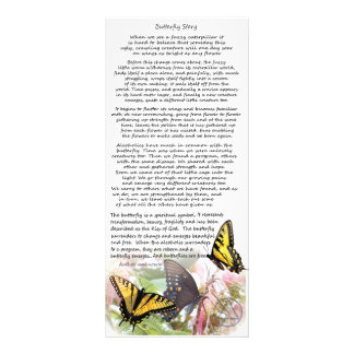 aa butterfly story personalized rack card
