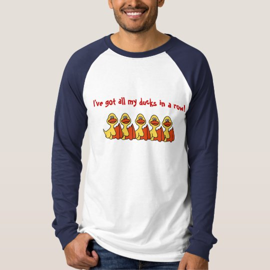 AA- Funny Cartoon Ducks in a row shirt