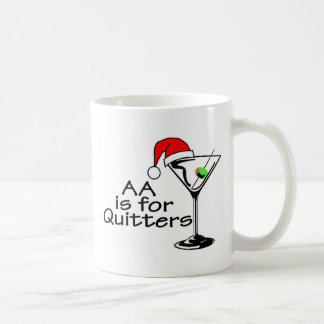AA Is For Quitters Martini Coffee Mug