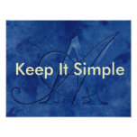 AA Keep It Simple Poster