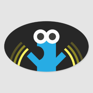Aaa-aaA!!! Oval Sticker