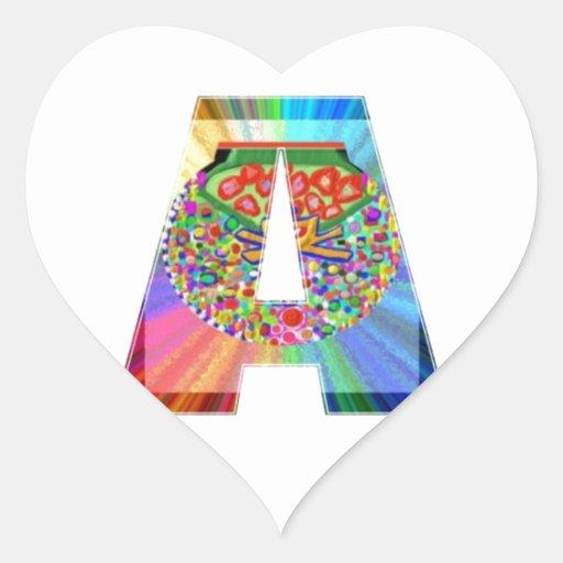 AAA Cutout JEWEL : FirstClass First Topper Heart Sticker