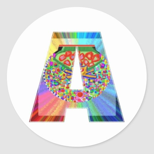 AAA Cutout JEWEL : FirstClass First Topper Round Sticker