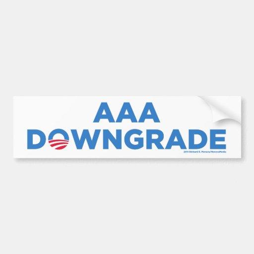 AAA Downgrade Bumper Sticker