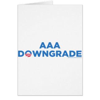 AAA Downgrade Card