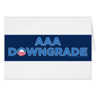 AAA Downgrade Greeting Card