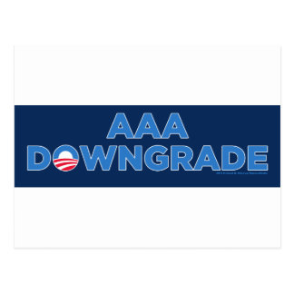 AAA Downgrade Postcard