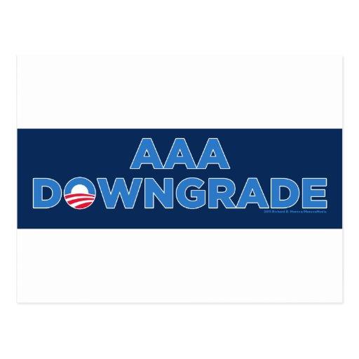 AAA Downgrade Post Cards