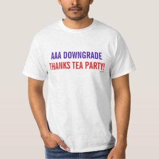 AAA Downgrade Thanks Tea Party t-shirt