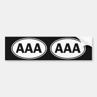 AAA Oval ID Bumper Sticker