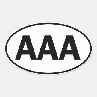 AAA Oval ID Oval Sticker