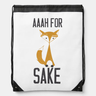 Aaaaah, for fox sake! drawstring bag