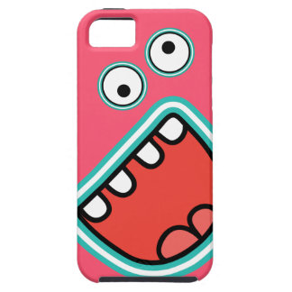AAAH! Cute Screaming Monster Face  Pink Case For The iPhone 5