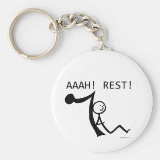 Aaah Rest! Basic Round Button Key Ring