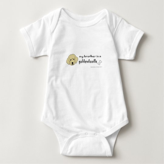 aaaoct6g my brother is a goldendoodle -more breeds baby bodysuit