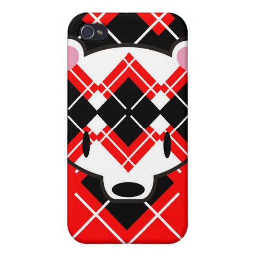 Aaargyle RB kuma speckcase iPhone 4 Cases