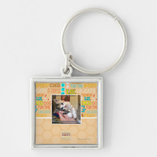 Aaaws Silver-Colored Square Key Ring