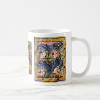Aachen Gospels, Folio 13R By Karolingischer Buchma Classic White Coffee Mug