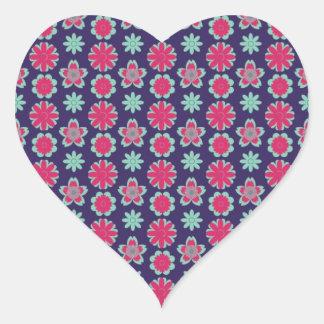AADA Floral Pattern Heart Sticker