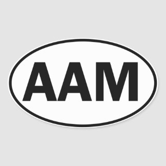 AAM Oval ID Stickers