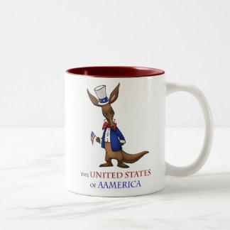 Aamerican Aadrdvark Two-Tone Coffee Mug