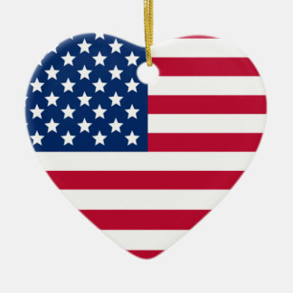 Aamerican Heart Christmas Ornament