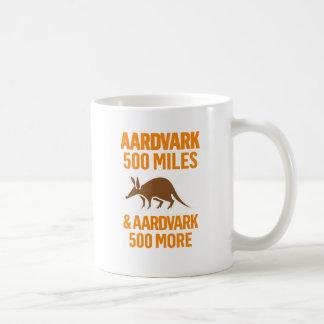 Aardvark 500 Miles funny pun Basic White Mug