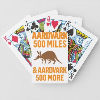 Aardvark 500 Miles funny pun Bicycle Poker Deck