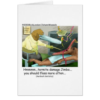 Aardvark Dentistry Funny Gifts & Collectibles Greeting Card