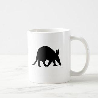 Aardvark silhouette coffee mug