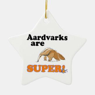 aardvarks are super christmas ornament