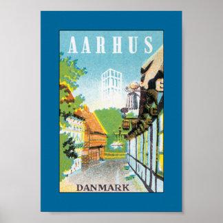 Aarhus Danmark (border) Poster