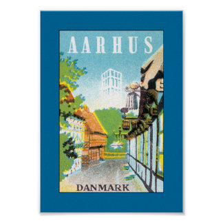 Aarhus Danmark (canvas) Poster