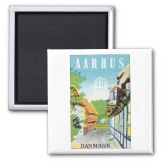 AARHUS, Danmark Square Magnet