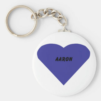 Aaron Basic Round Button Key Ring