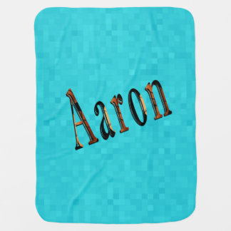 Aaron Boys Name Logo, Baby Blanket